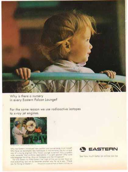 Eastern Airlines – Nursery in every Eastern Falcon Lounge (1966)