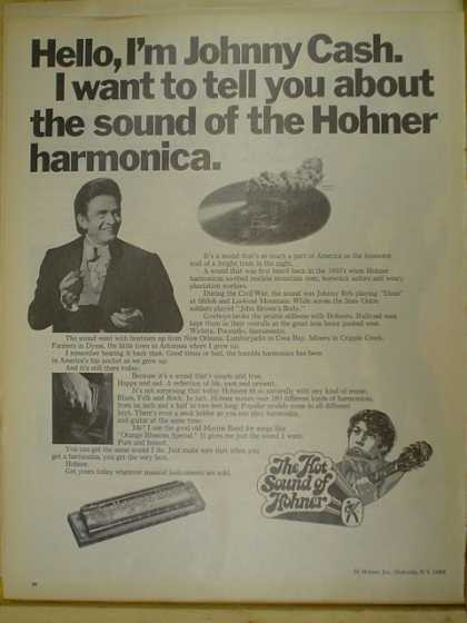 Hohner Harmonica. Johnny Cash. The hot sound of Hohner (1970)