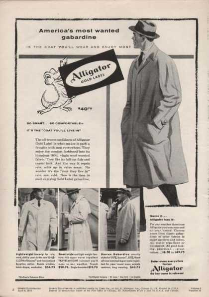 Alligator Gold Label Mens Coat (1955)