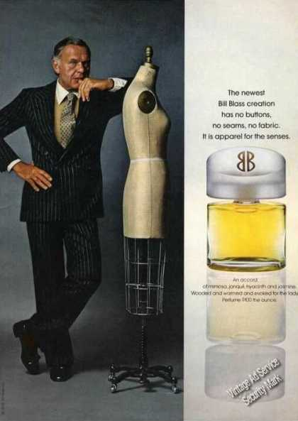 Bill Blass Photo Rare Perfume Advertising (1978)
