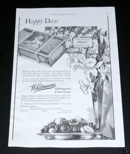 Whitman&#8217;s Salmagundi Chocolates (1929)