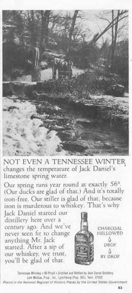Jack Daniel's – Not Even A Tennessee Winter… (1976)