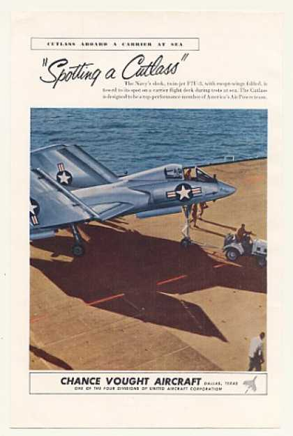 US Navy Chance Vought F7U-3 Cutlass Aircraft (1953)
