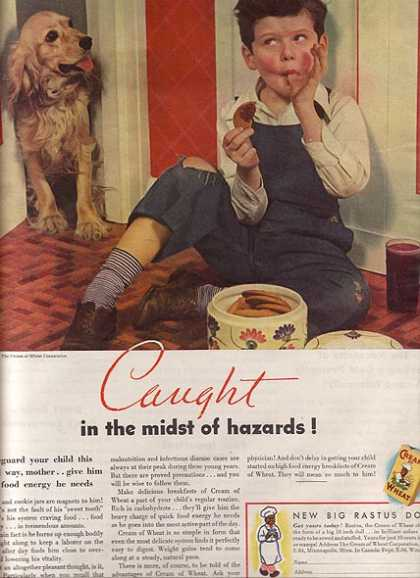 "Cream of Wheat's ""Caught in the midst of hazards"" (1936)"
