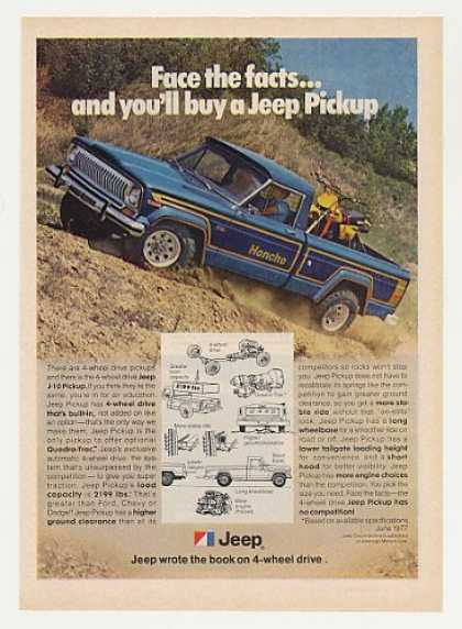 Jeep J-10 Honcho 4-Wheel Drive Pickup Truck (1977)