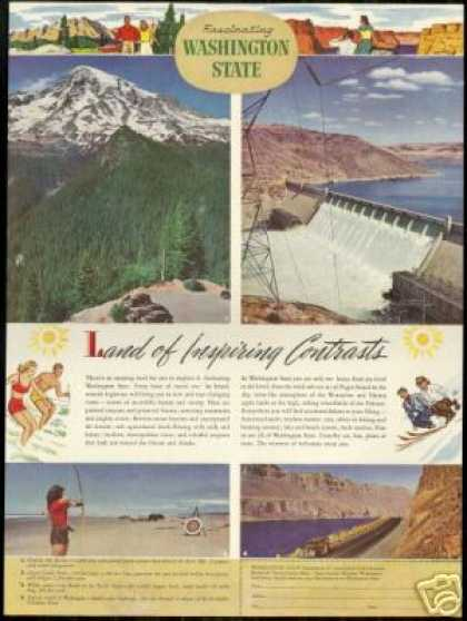 Washington State Vintage Photo Travel Rainier (1947)