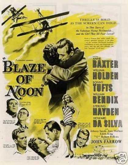 "Movie Ad ""Blaze of Noon"" William Holden (1947)"