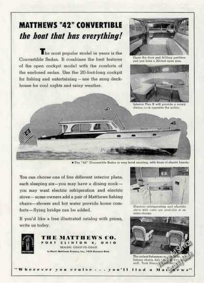 Matthews 42 Convertible Sedan Photos (1956)