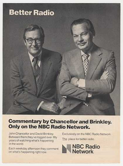 John Chancellor David Brinkley NBC Radio Photo (1977)