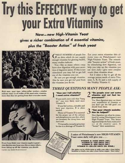 Standard Brand's Fleischmann's Yeast – Try this effective way to get your extra vitamins (1939)