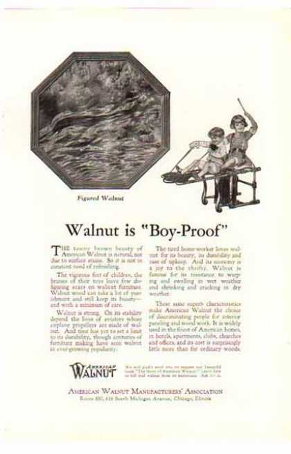 American Walnut – Walnut is Boy Proof (1924)