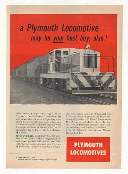 Ohio Edison Co Plymouth Locomotive (1953)