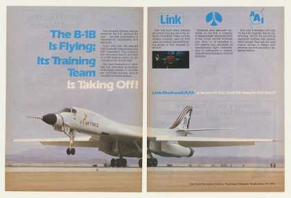 US Air Force B-1B Aircraft Link Training (1983)