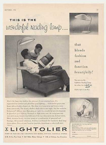 Lightolier Reading Lamp Photo (1955)
