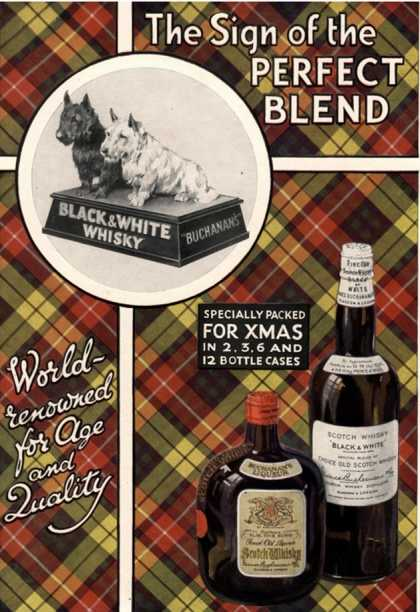Black and White Whiskey, UK (1930)