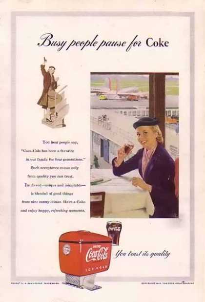 Coke Busy people... (1953)