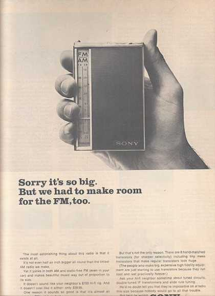 Sony's AM-FM Transistor Radio (1964)