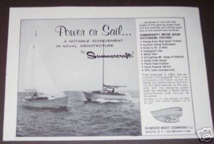 Original Sumnercraft Power or Sailboat Boat (1964)