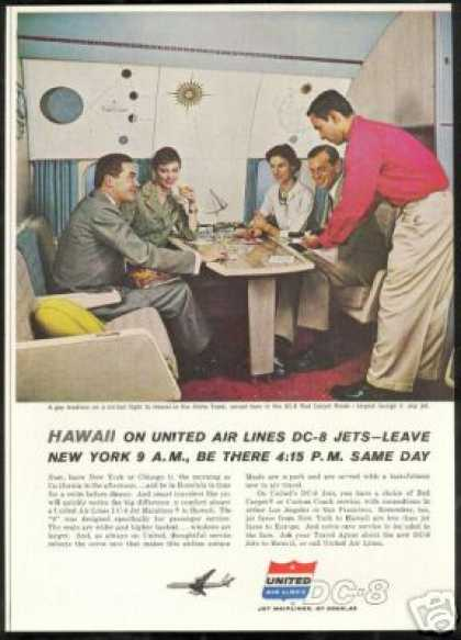 United Airlines DC-8 DC8 Red Carpet Room (1960)