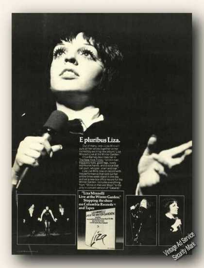 Liza Minnelli Photo Live at the Wintergarden (1974)