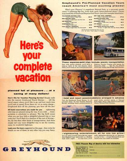 Greyhound – Here's your complete vacation (1954)