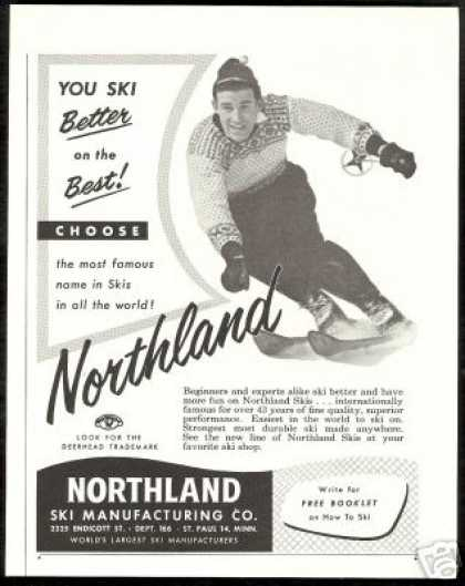 Skier Northland Snow Ski Manufacturing Co (1955)