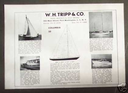 W. H. Tripp Columbia 50 Sailboat Yacht Boat (1965)