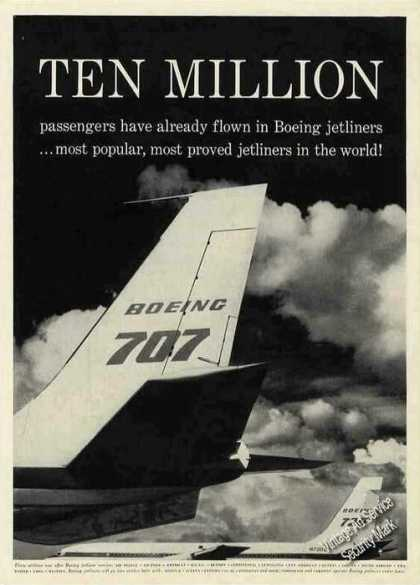 "Boeing 707 & 720 Tailfin ""Ten Million"" (1960)"