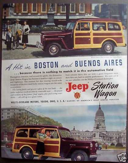 Willys-overland Motors Jeep Station Wagon Car (1948)