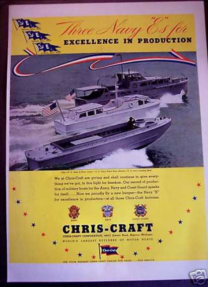Chris-craft Military Boats Army Navy (1942)