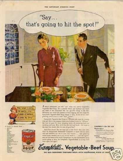 "Campbell's Vegetable Soup Ad ""Say...that's.. (1936)"