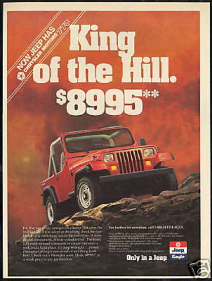 Red Jeep Wrangler King of the Hill (1989)