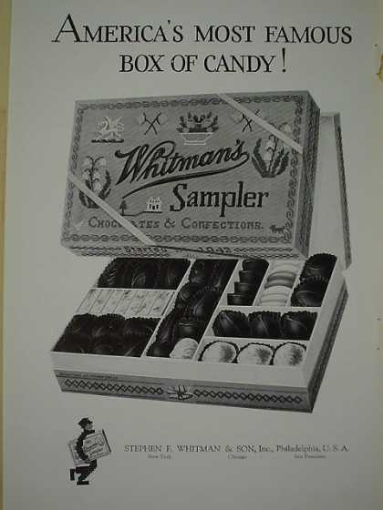 Whitman's Chocolates America's most famous box of candy (1926)