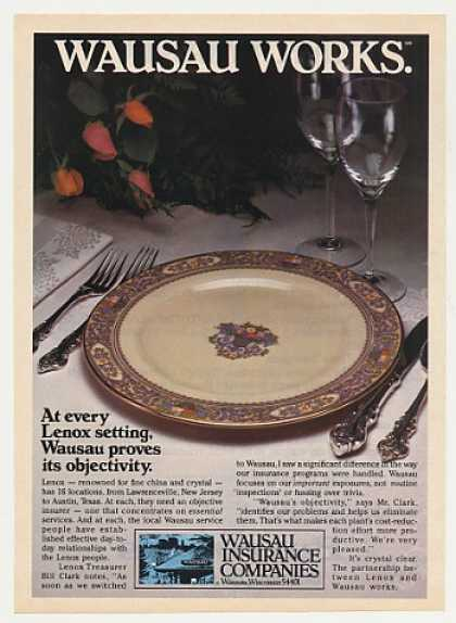 Lenox China Plate Wausau Insurance Photo (1982)