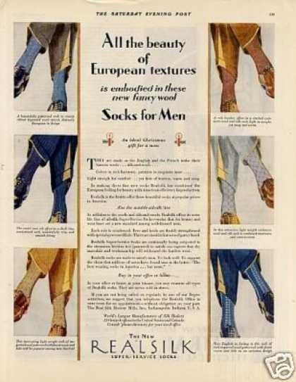 Real Sik Mens Socks (1928)