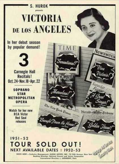 Victoria De Los Angeles Debut Season Opera (1951)