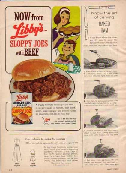 Libby's Sloppy Joes and Beef (1965)