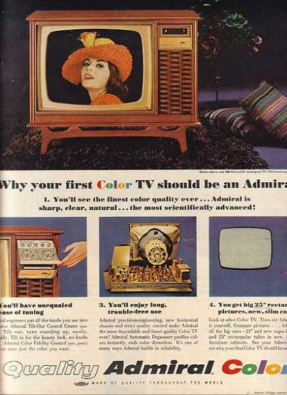 Admiral's Color Television Sets (1966)