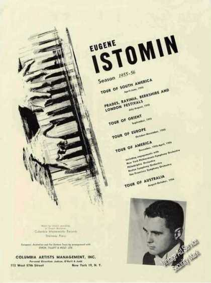 Eugene Istomin Photo Piano Booking (1955)