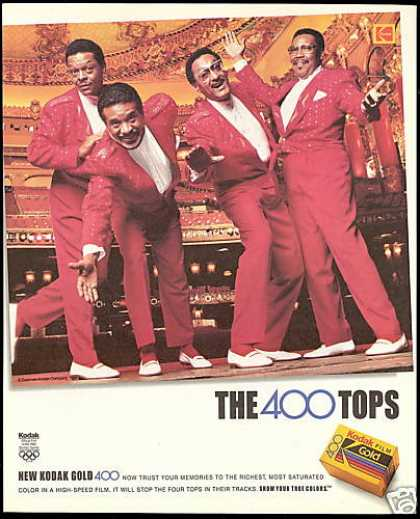 Music The Four Tops Photo Kodak Camera Film (1991)