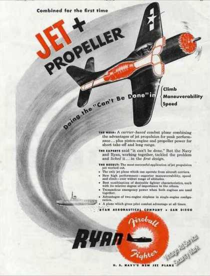"Ryan Fireball Fighter ""Jet + Propeller"" (1946)"