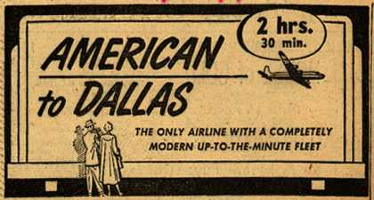 American Airline's Dallas – American to Dallas (1949)