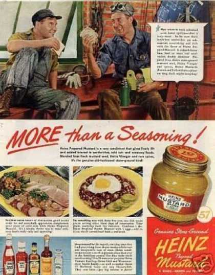 "Heinz Mustard Ad ""More Than a Seasoning... (1942)"