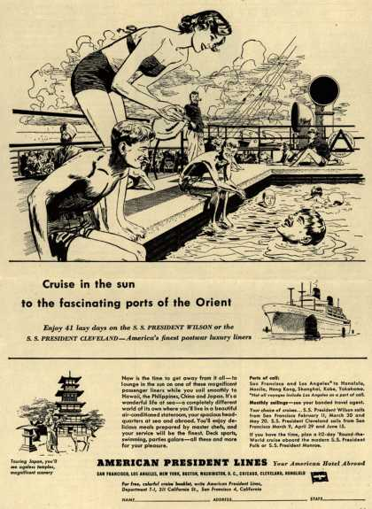 American President Line's Orient – Cruise in the sun to the fascinating ports of the Orient (1949)