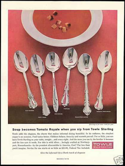 Towle Sterling Spoons Six Patterns Vintage (1958)
