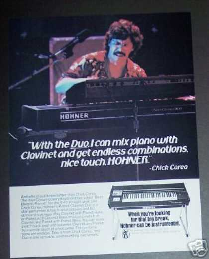 Chick Corea Photo Hohner Duo Keyboard (1979)