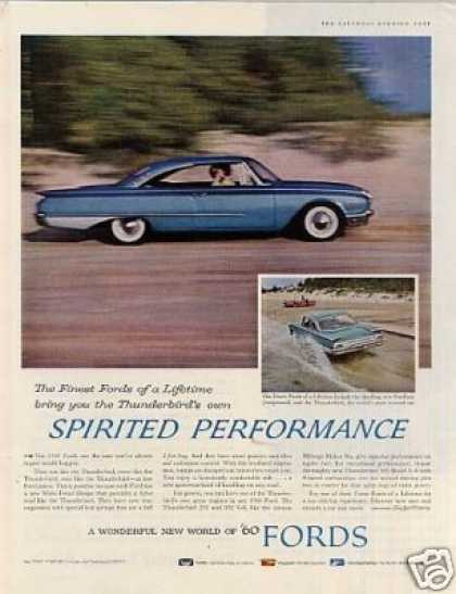 "Ford Car Ad ""Spirited Performance... (1960)"