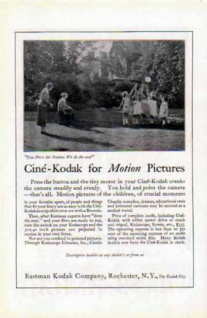 Kodak – Cine'-Kodak … For Motion Pictures (1924)