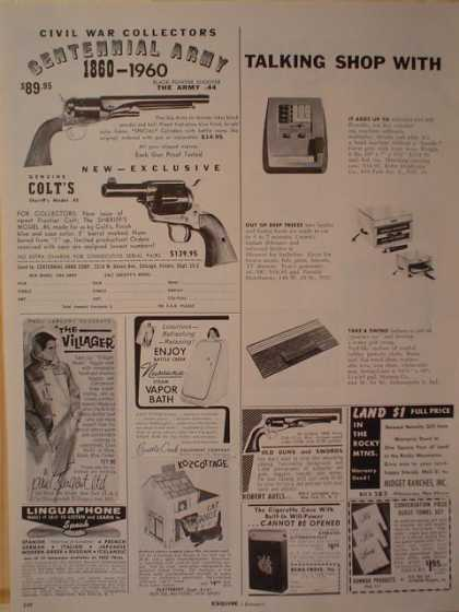 Colt Firearms Gun Civil War Collectors Centennial Army 1/4 pg (1961)