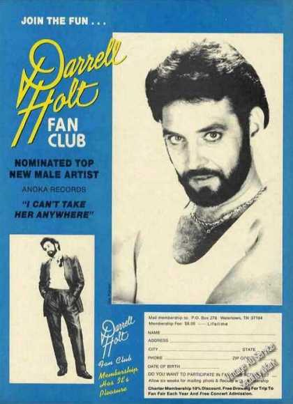 Darrell Holt Photo Fan Club Membership Promo (1988)
